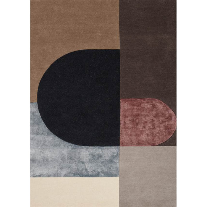 VILJA BORDEAUX area Rug by Linie Design