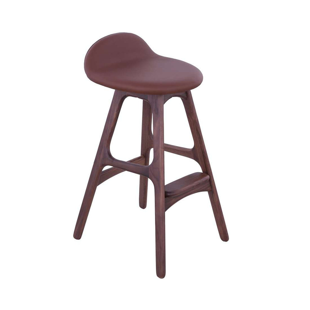 Custom Buch Counter Stool - Brown and Walnut