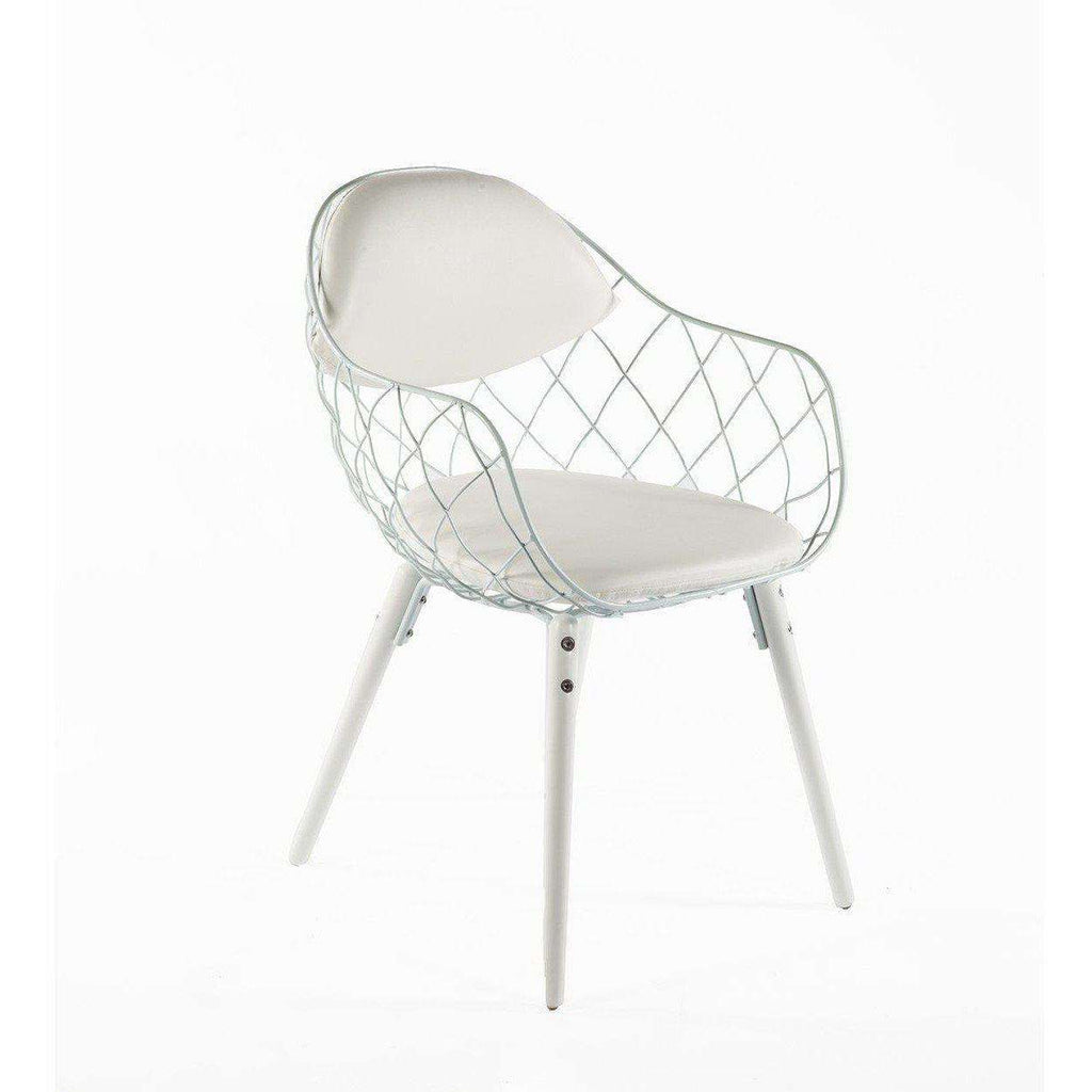 Mid-Century Modern Reproduction Pina Armchair - White Inspired by Jaime Hayon