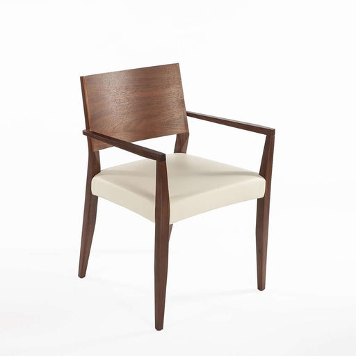 Modern Boid Dining Arm Chair - White Leather
