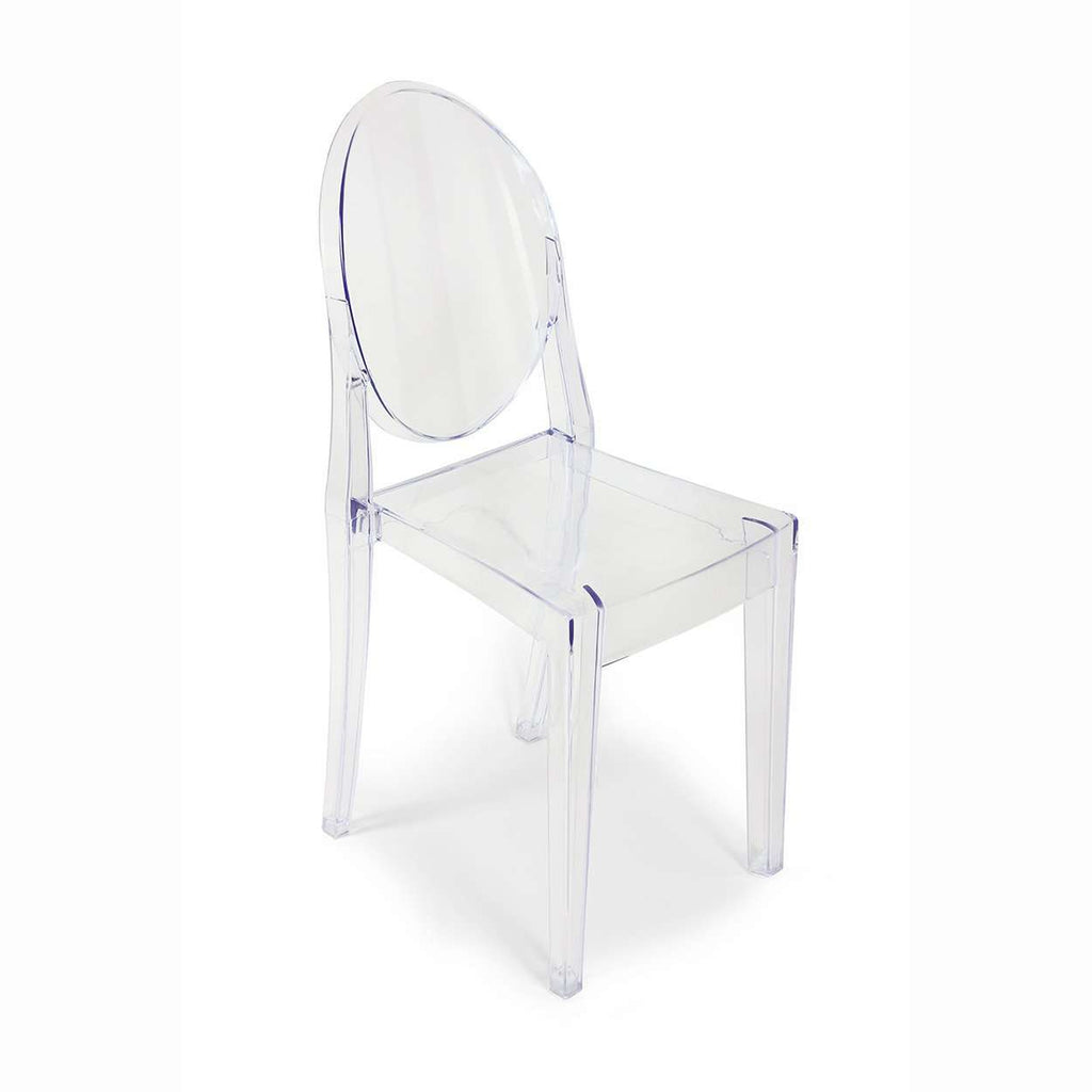 Mid Century Modern Reproduction Ghost Side Chair   Transparent Acrylic  Dining Side Chair Inspired By
