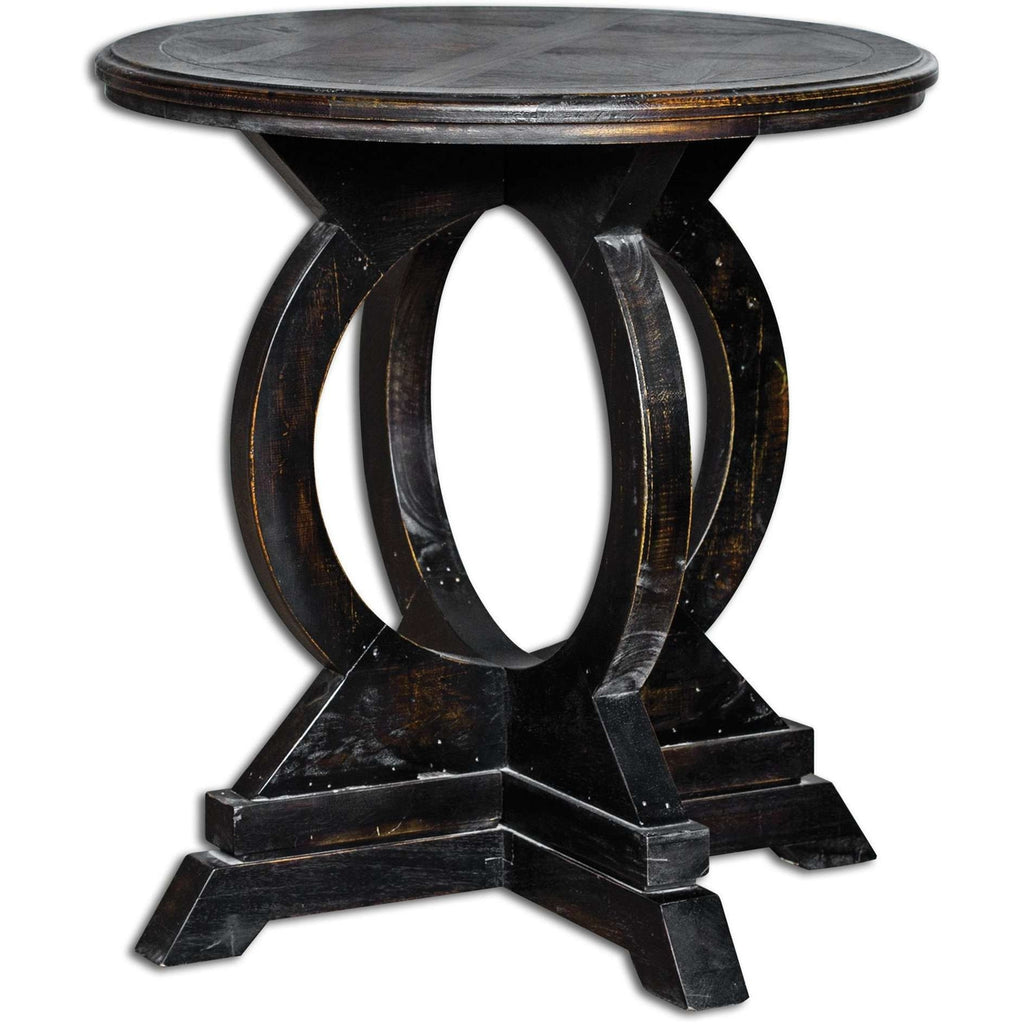 Uttermost Maiva Black Accent Table