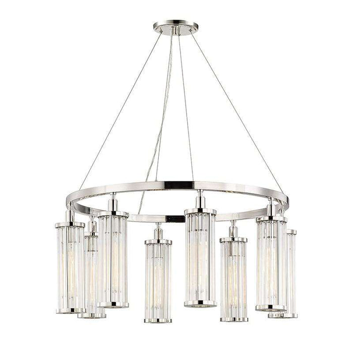 Marley 8 Light Pendant Polished Nickel