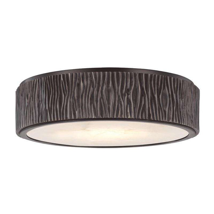 Crispin Large Led Flush Mount Old Bronze