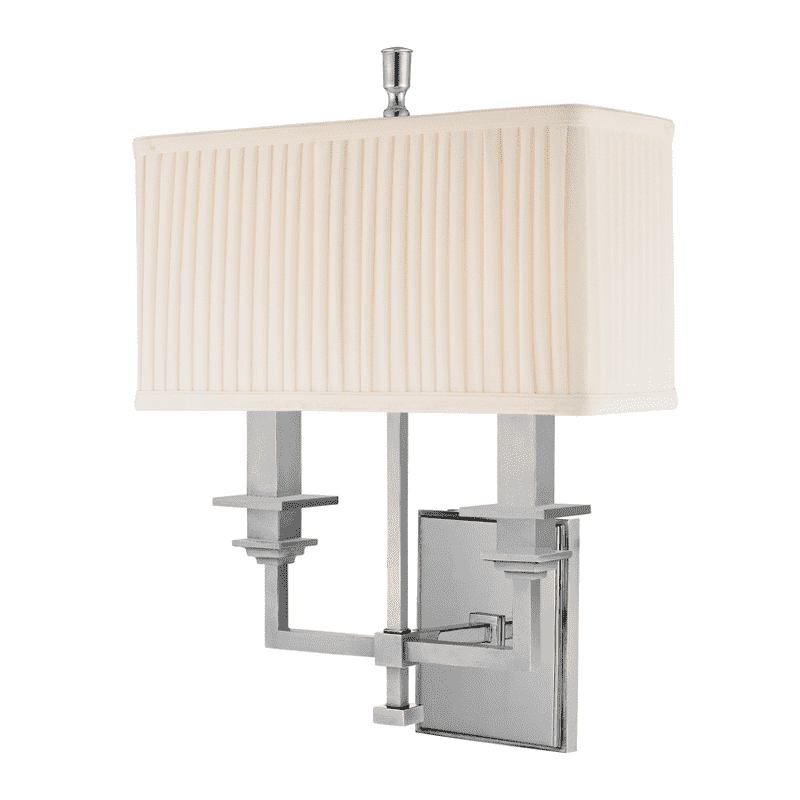 Berwick 2 Light Wall Sconce Polished Nickel