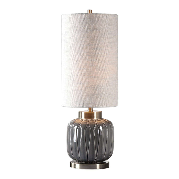 Zahlia Aged Gray Ceramic Lamp