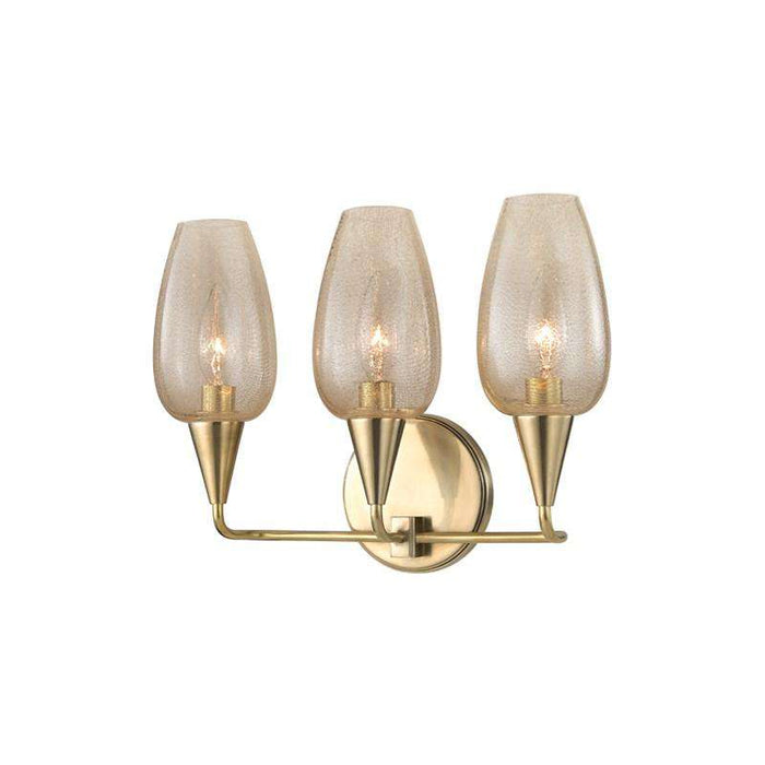 Longmont 3 Light Wall Sconce Aged Brass