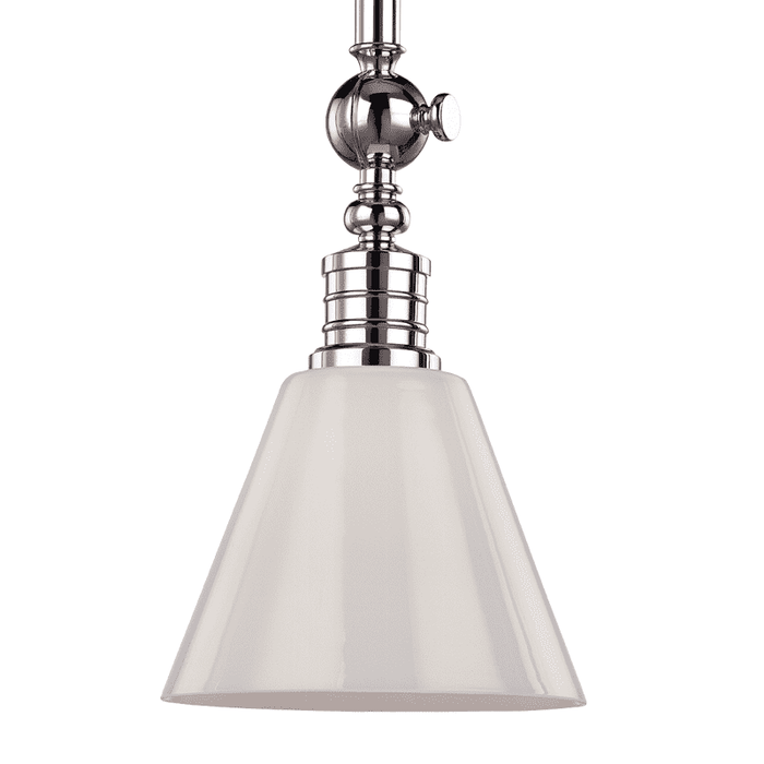 Darien 1 Light Pendant Polished Nickel