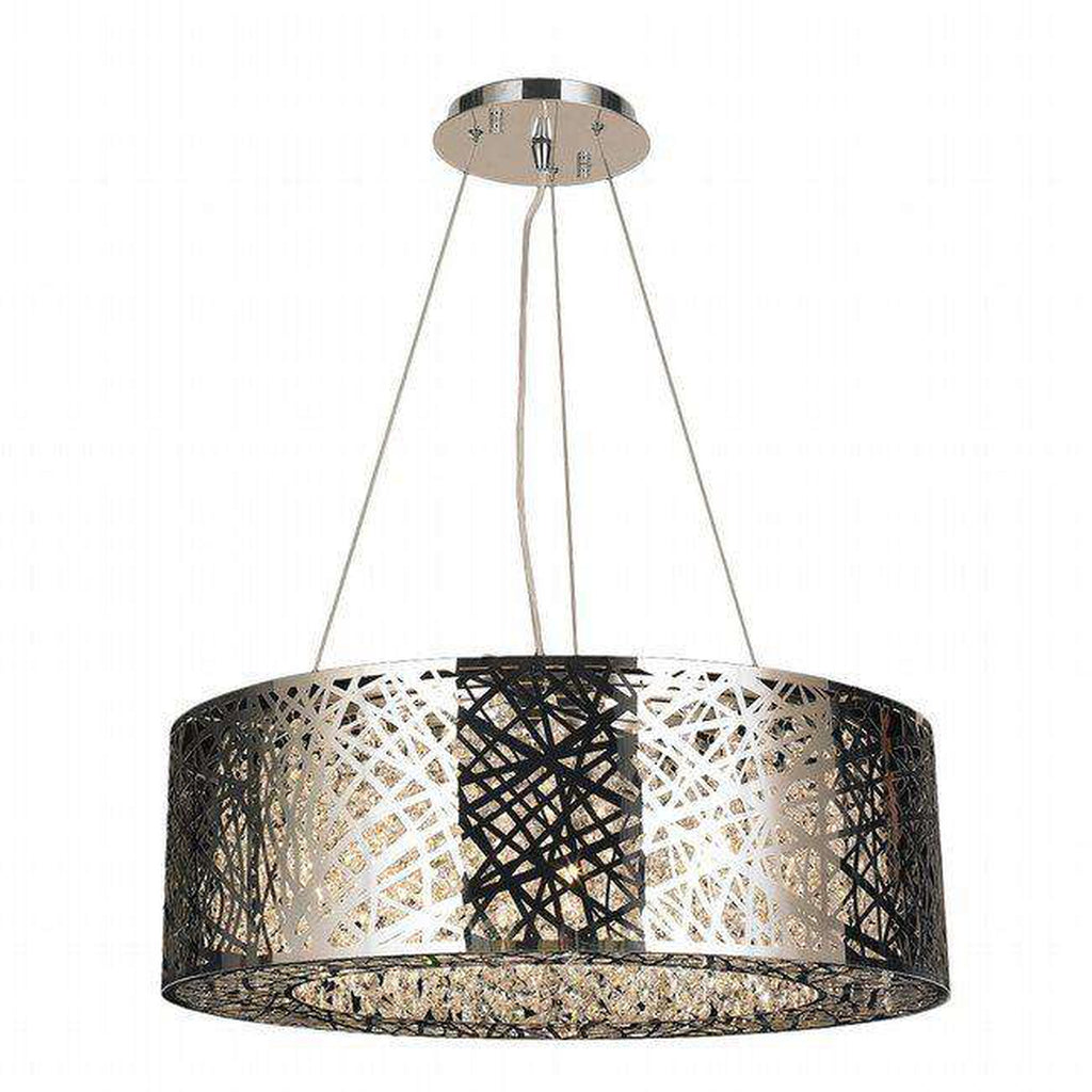 Aramis Chrome & Crystal Chandelier - 10 Bulbs