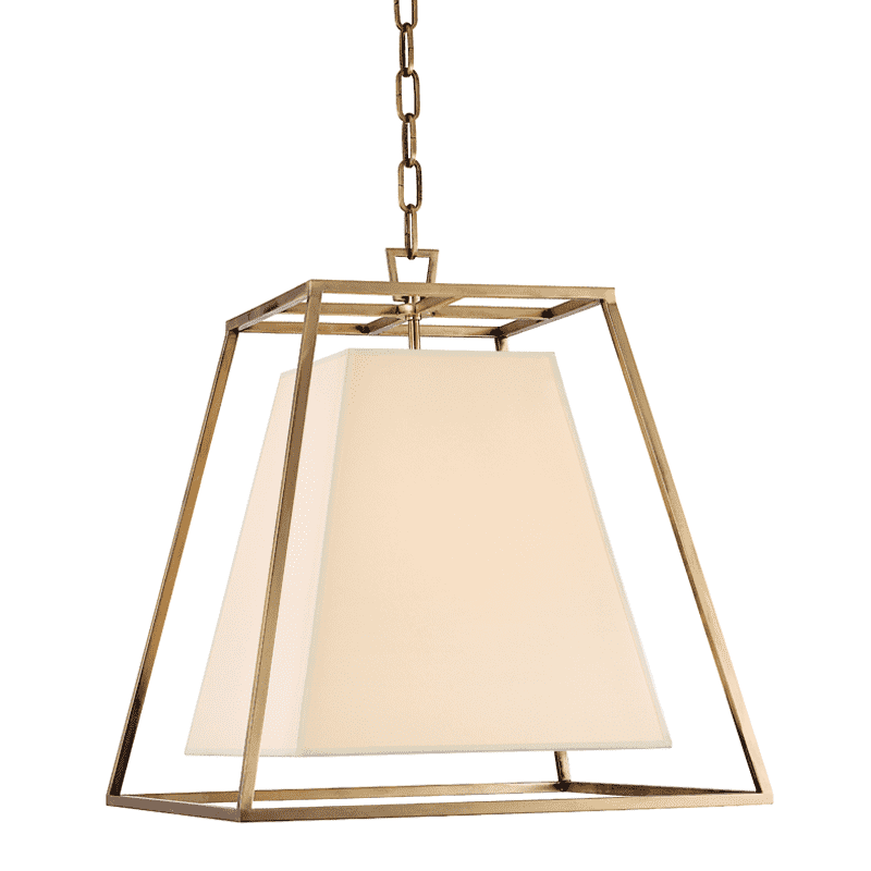 Kyle 4 Light Pendant Aged Brass