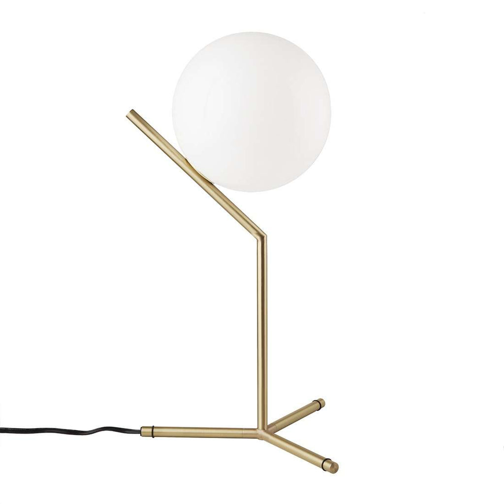 High Brass Ball Table Lamp