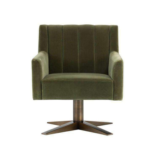 Central Park Swivel Chair - Antique Brass