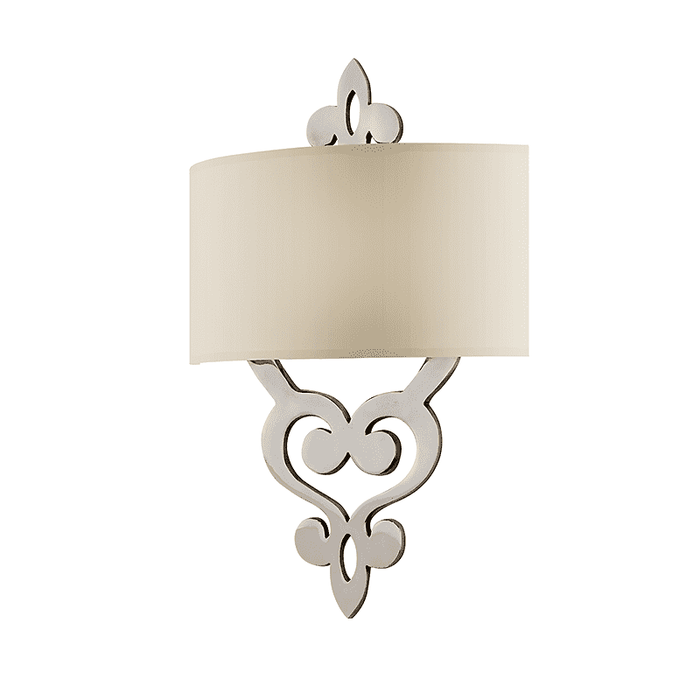 Olivia 2Lt Wall Sconce Polished Nickel