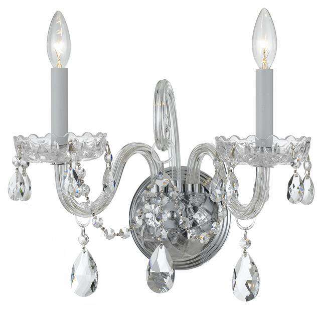 Traditional Crystal 2 Light Sconce