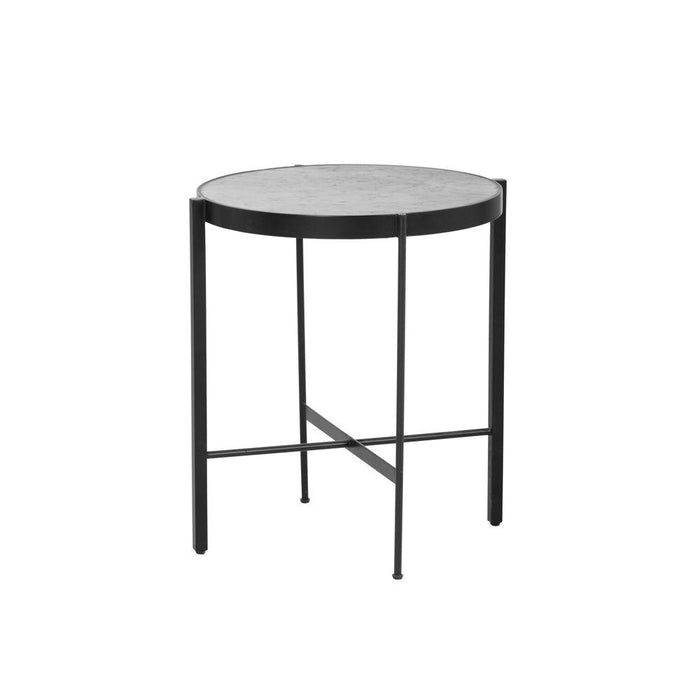 Willem End Table - White Marble