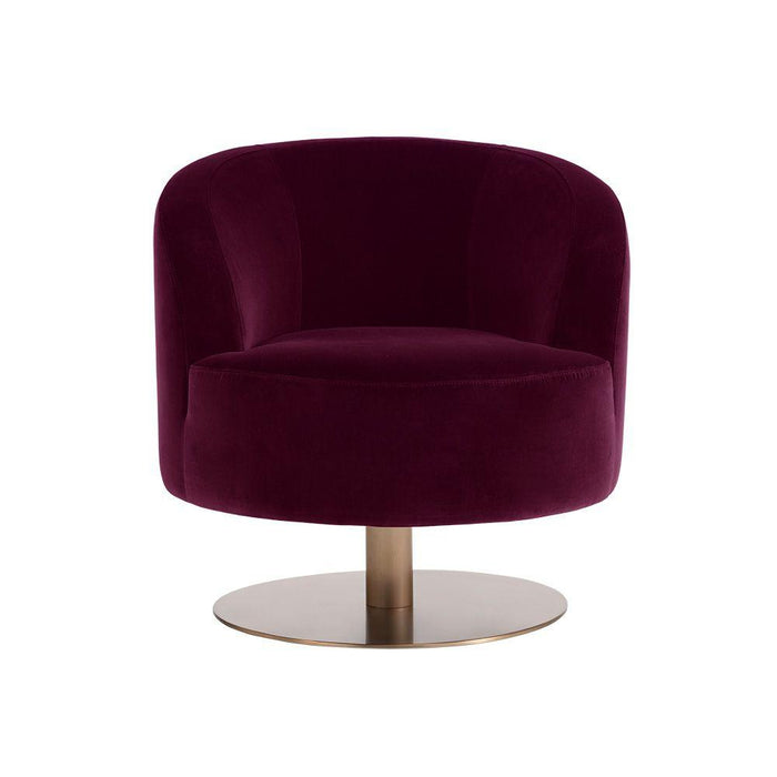 Peggy Swivel Club Chair - Giotto Cabernet