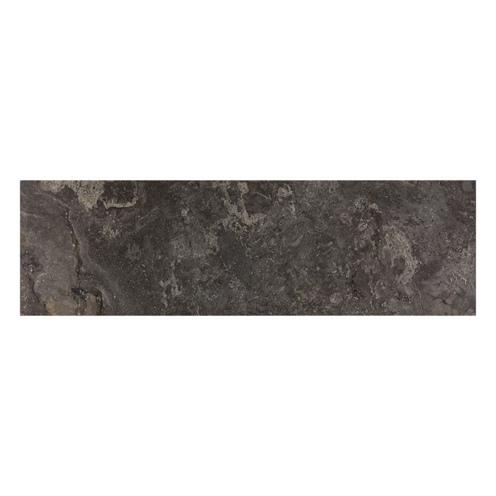 Stamos Sideboard - Black - Light Grey Marble / Charcoal Grey