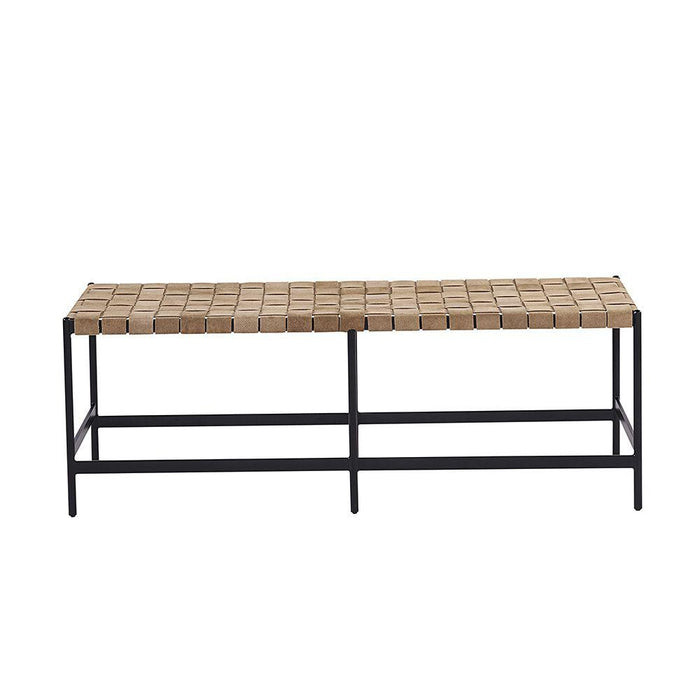 Omari Bench - Black - Light Tan