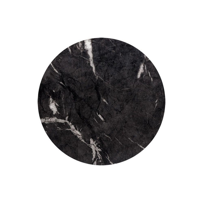 Goya End Table - Marble Look - Black