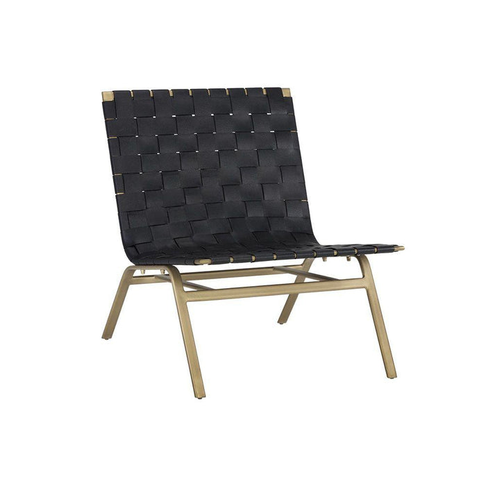 Omari Lounge Chair - Gold - Black