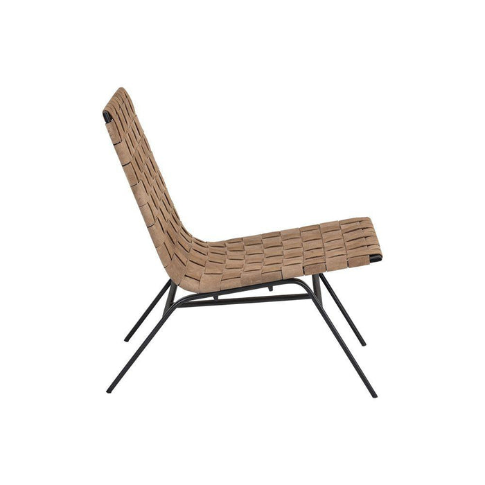 Omari Lounge Chair - Black - Light Tan