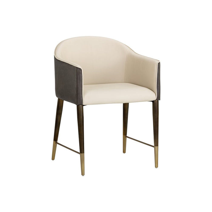 Kylin Dining Armchair - Dillon Cream / Bravo Ash
