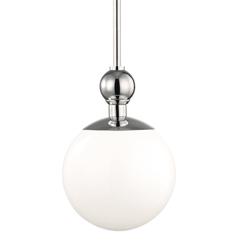 Daphne 1 Light Small Pendant - Polished Nickel