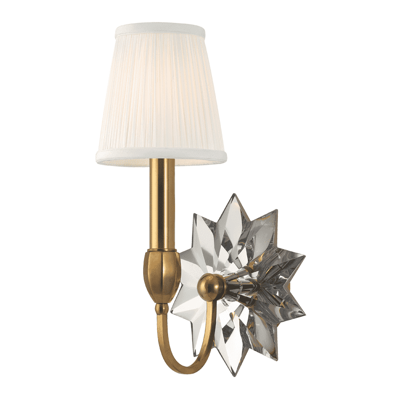 Barton 1 Light Wall Sconce Aged Brass