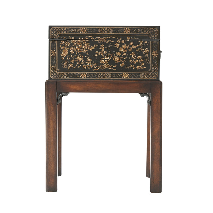 The Floral Painted Box Accent Table