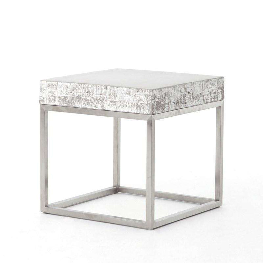 FOUR HANDS - CONCRETE AND CHROME END TABLE - FH-VCNS-F010