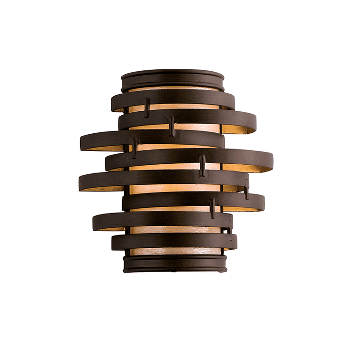 Vertigo 1Lt Wall Sconce Bronze And Gold Leaf
