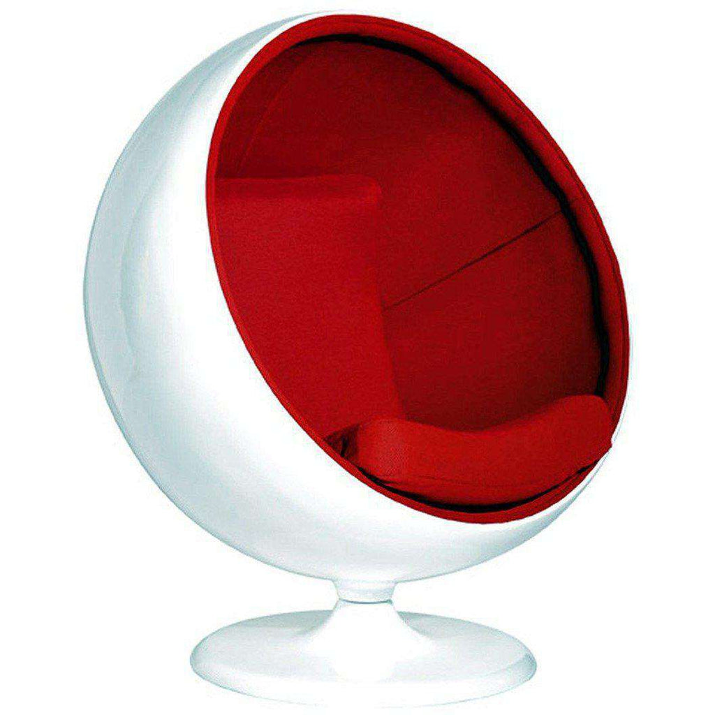 Mid-Century Modern Reproduction Ball Chair - Red Inspired by Eero ...