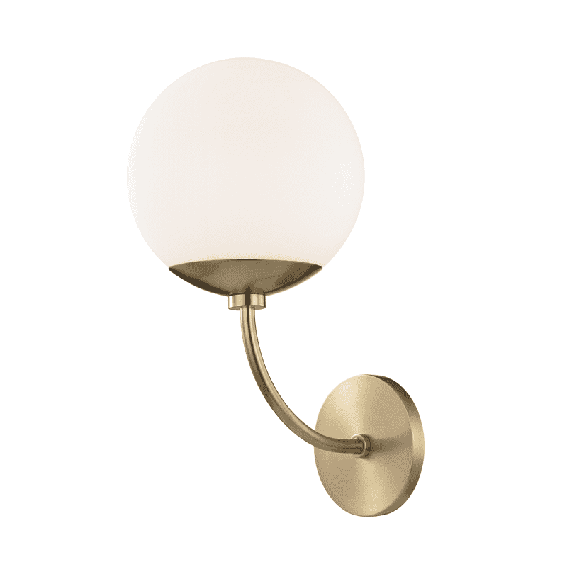Carrie 1 Light Wall Sconce - Aged Brass