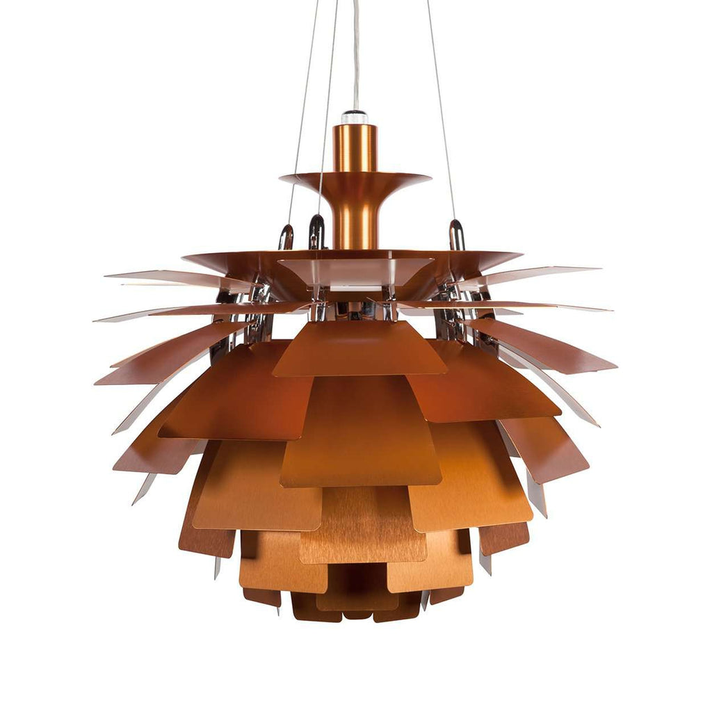 Mid Century Modern Reproductionhenningsen Pinecone Lamp Copper 18 Quot Diameter Inspired By Poul