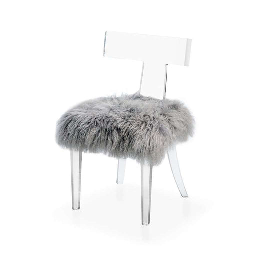 Tristan Klismos Sheepskin Chair
