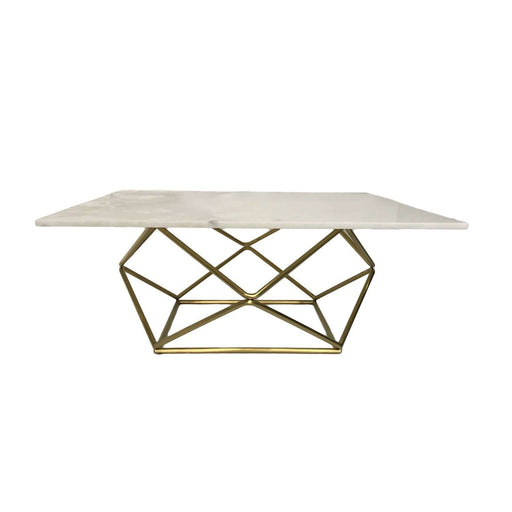 Marble Geometric Coffee Table - Gold
