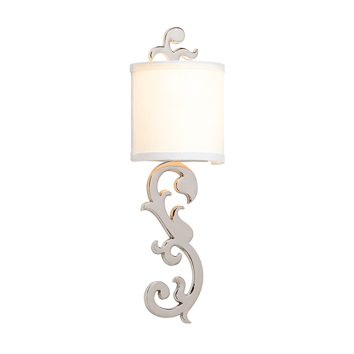 Romeo 1Lt Wall Sconce Polished Nickel