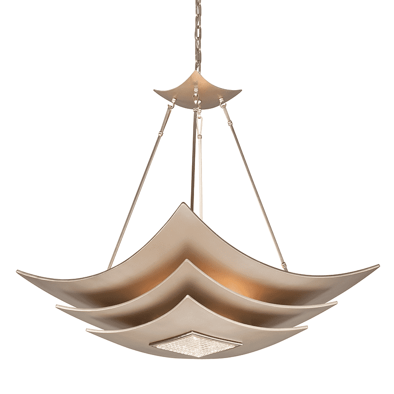 Muse 6Lt Pendant Tranquility Silver Leaf