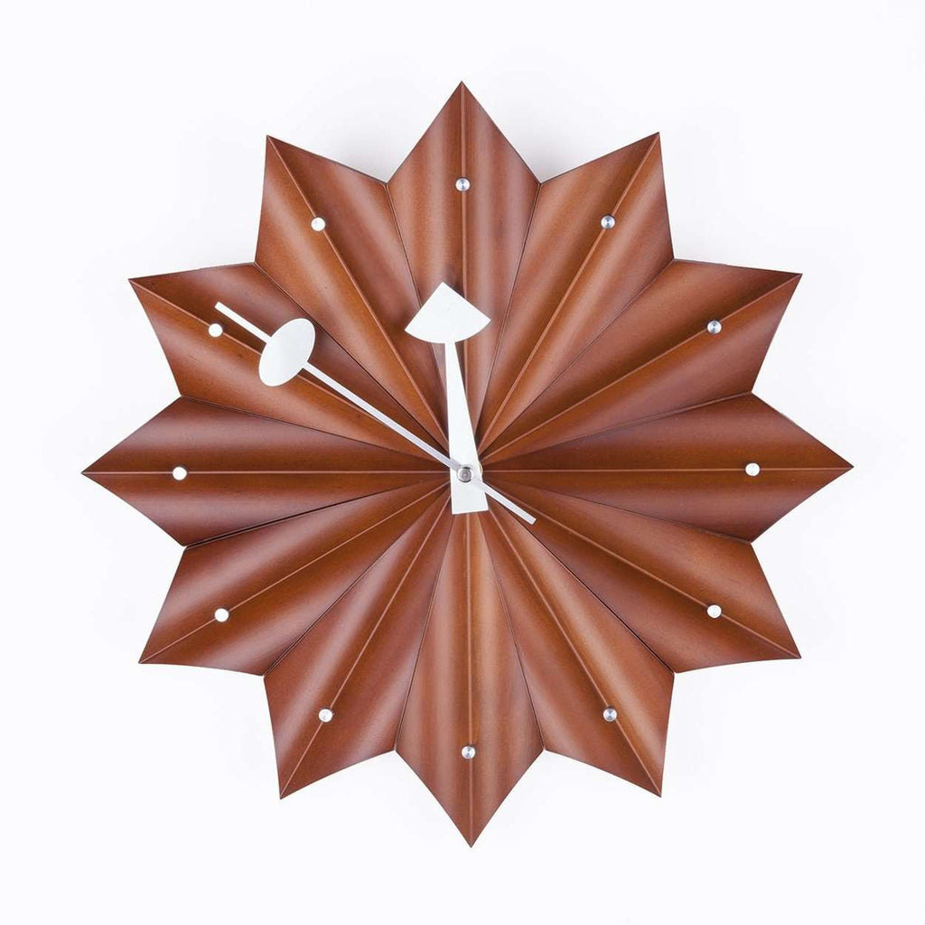 Mid-Century Modern Reproduction Pleated Star Medallion Wall Clock Inspired by George Nelson