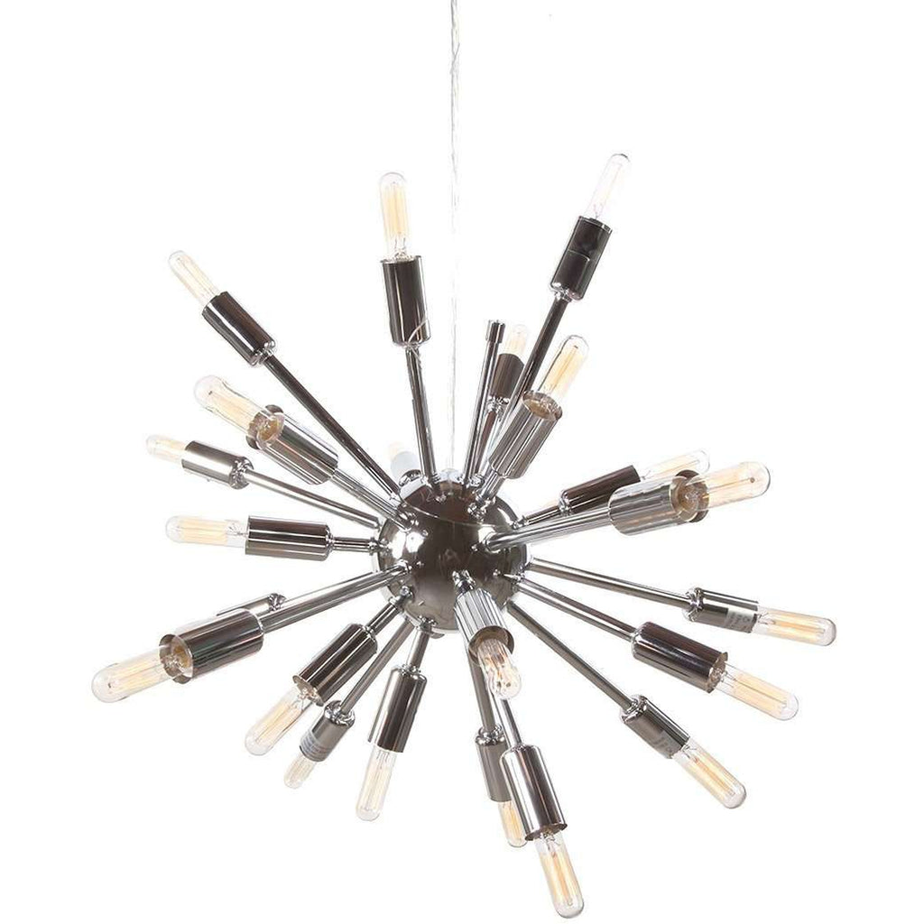 Dedrick Atomic Sputnik Chandelier - Chrome - 24 Bulb
