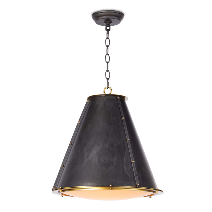 French Maid Chandelier SM (Blackened Brass Natural Brass)