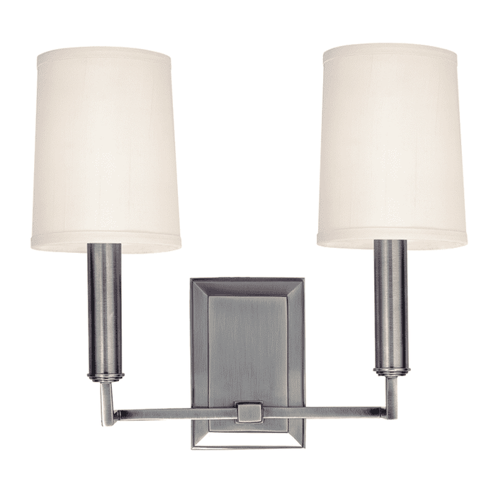 Clinton 2 Light Wall Sconce Polished Nickel