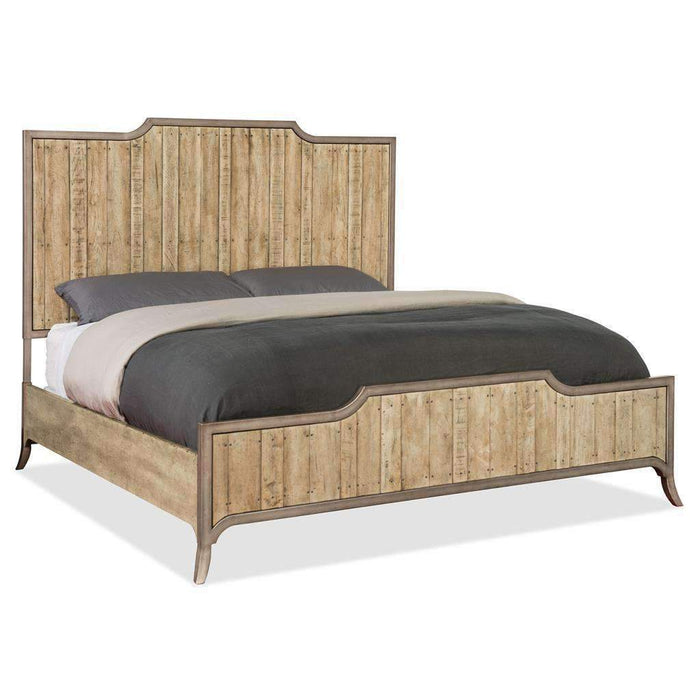 California King Wood Panel Bed
