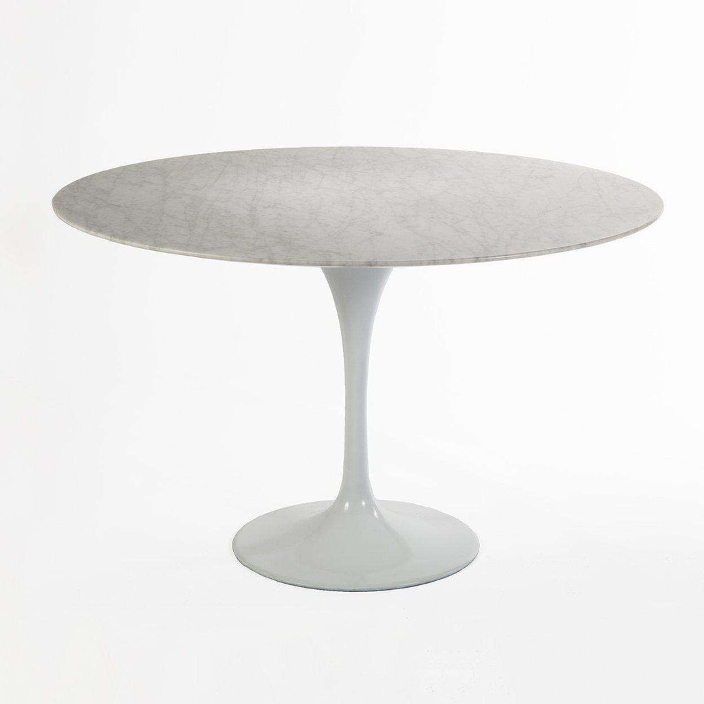 Mid-Century Modern Reproduction Marble Tulip Dining Table - 47 Inspired by Eero Saarinen
