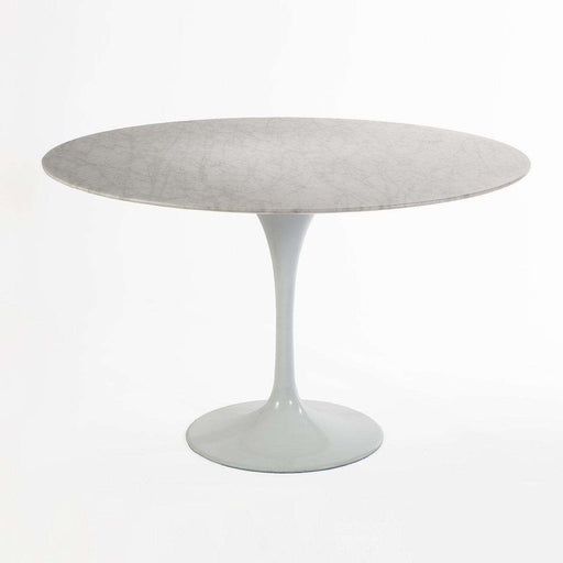 Carrara Marble Tulip Dining Table   47