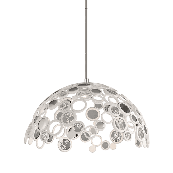 Fathom 1Lt Pendant White With Polished Stainless