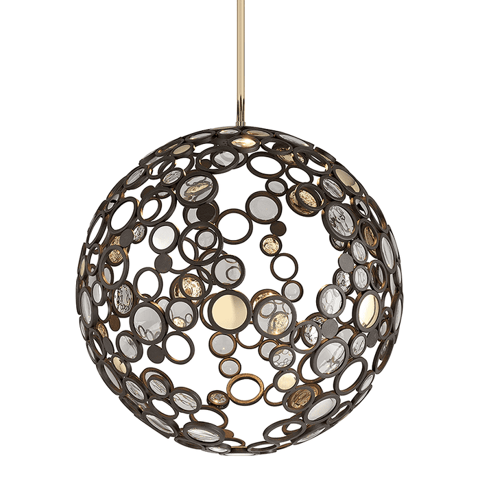 Fathom 1Lt Pendant Bronze With Brass & Stainless