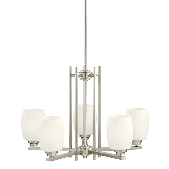 Eileen Chandelier 5 Light - Brushed Nickel