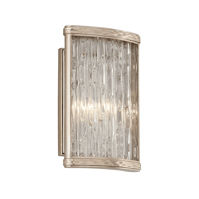 Pipe Dream 1Lt Wall Sconce Silver Leaf