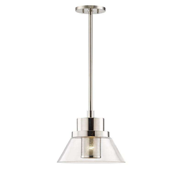 Paoli 1 Light Small Pendant Polished Nickel